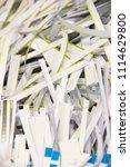 pile of shredded documentary... | Shutterstock . vector #1114629800