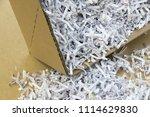 pile of shredded documentary... | Shutterstock . vector #1114629830