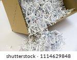 pile of shredded documentary... | Shutterstock . vector #1114629848
