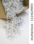 pile of shredded documentary... | Shutterstock . vector #1114629854