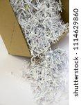pile of shredded documentary... | Shutterstock . vector #1114629860