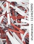 pile of shredded documentary... | Shutterstock . vector #1114629890