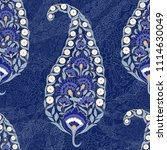 floral indian paisley pattern... | Shutterstock .eps vector #1114630049