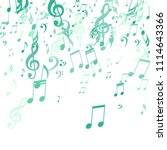 falling musical notes. abstract ... | Shutterstock .eps vector #1114643366