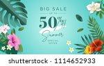 summer sale. vector... | Shutterstock .eps vector #1114652933