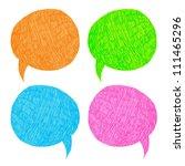 hand draw speech bubble | Shutterstock .eps vector #111465296