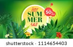 summer sale. vector... | Shutterstock .eps vector #1114654403