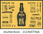 beer. poster or banner with... | Shutterstock .eps vector #1114657466