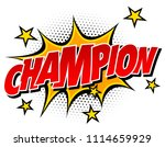 champion text in vector. | Shutterstock .eps vector #1114659929