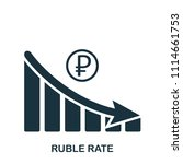 ruble rate decrease graphic... | Shutterstock .eps vector #1114661753