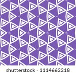 seamless pattern with symmetric ... | Shutterstock .eps vector #1114662218
