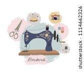 sewing workshop or tailor shop. ... | Shutterstock .eps vector #1114662326