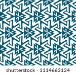 seamless pattern with symmetric ... | Shutterstock .eps vector #1114663124
