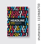 covers with flat geometric... | Shutterstock .eps vector #1114666733