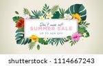 summer sale vector illustration ... | Shutterstock .eps vector #1114667243