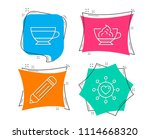 set of pencil  dry cappuccino...   Shutterstock .eps vector #1114668320