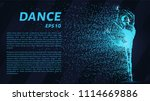 dance of the particles. girl in ... | Shutterstock .eps vector #1114669886