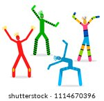 a set of dancing inflatable... | Shutterstock .eps vector #1114670396