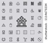cemetery icon. detailed set of... | Shutterstock .eps vector #1114673234