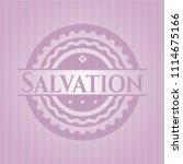 salvation badge with pink... | Shutterstock .eps vector #1114675166