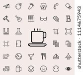 a cup of coffee outline icon.... | Shutterstock .eps vector #1114675943
