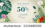 summer sale banner design... | Shutterstock .eps vector #1114680200