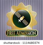 gold badge or emblem with... | Shutterstock .eps vector #1114680374