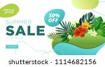 summer sale banner design... | Shutterstock .eps vector #1114682156