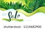 summer sale banner design... | Shutterstock .eps vector #1114682900