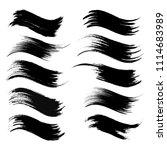 vector set of grunge brush... | Shutterstock .eps vector #1114683989