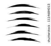 vector set of grunge brush... | Shutterstock .eps vector #1114684013
