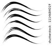 vector set of grunge brush... | Shutterstock .eps vector #1114684019