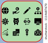 simple 12 icon set of business... | Shutterstock .eps vector #1114687670