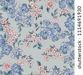 floral seamless pattern. flower ... | Shutterstock .eps vector #1114691930