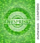 offspring green emblem with...   Shutterstock .eps vector #1114693043