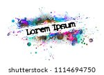 abstract colored blots... | Shutterstock .eps vector #1114694750
