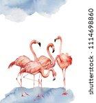 watercolor card with dancing... | Shutterstock . vector #1114698860