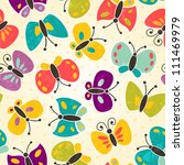 Stock vector butterfly seamless pattern eps vector illustration 111469979