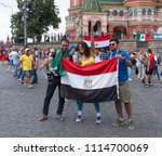 moscow   june 17  2018  soccer... | Shutterstock . vector #1114700069