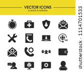 support icons set with message...