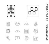 modern technology icons set...