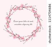 vector illustration sakura... | Shutterstock .eps vector #1114704686