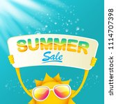 summer sale vector poster or... | Shutterstock .eps vector #1114707398
