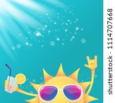 hello summer rock n roll vector ... | Shutterstock .eps vector #1114707668