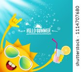 hello summer rock n roll vector ... | Shutterstock .eps vector #1114707680