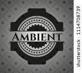 ambient dark badge | Shutterstock .eps vector #1114708739