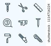 tools icons line style set with ... | Shutterstock .eps vector #1114716224