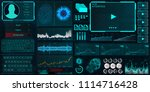 hud ui for business app.... | Shutterstock .eps vector #1114716428
