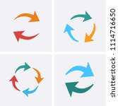 processing circular icons set.... | Shutterstock .eps vector #1114716650