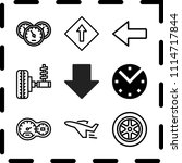 simple 9 icon set of arrow... | Shutterstock .eps vector #1114717844